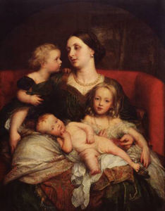 Frederick Waters (William) Watts - signora george Augusto Frederick bentinck cavendish ei suoi bambini