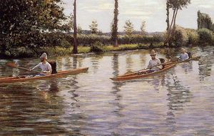 Gustave Caillebotte - Perissoires sur l - Yerres aka canottaggio sulle yerres