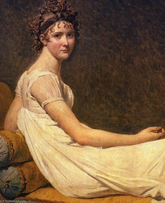 Madame Récamier di Jacques Louis David (1748-1800, France)