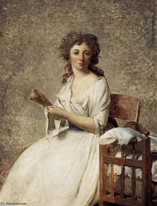 ritratto di dama adelaide pastoret di Jacques Louis David (1748-1800, France)