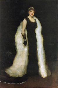 James Abbott Mcneill Whistler - sistemazione in black No 5 lady meux