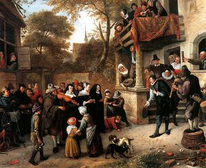 Jan Havicksz Steen - a villaggio matrimonio sole
