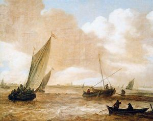 Jan Van Goyen - fluviale sole