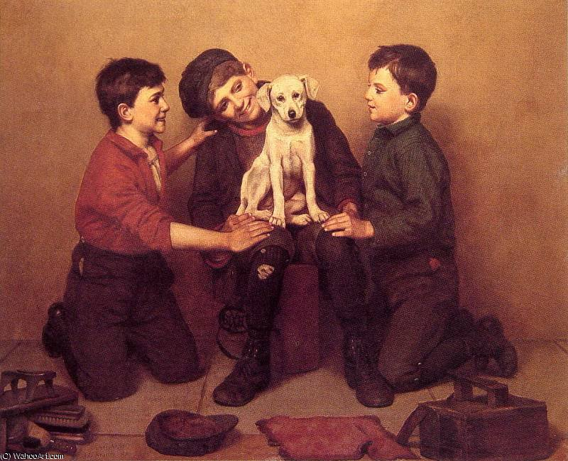 Il Foundling di John George Brown (1831-1913, United Kingdom) | WahooArt.com