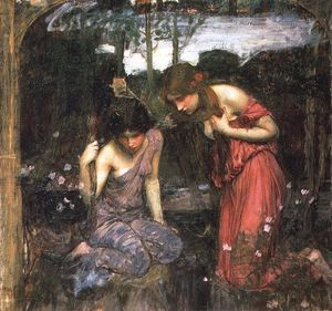 John William Waterhouse - Ninfe trovare la testa di studio orpheus
