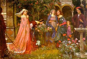 John William Waterhouse - Il giardino incantato
