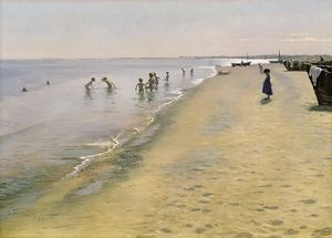 Peder Severin Kroyer - estate giorno al south beach di Skagen