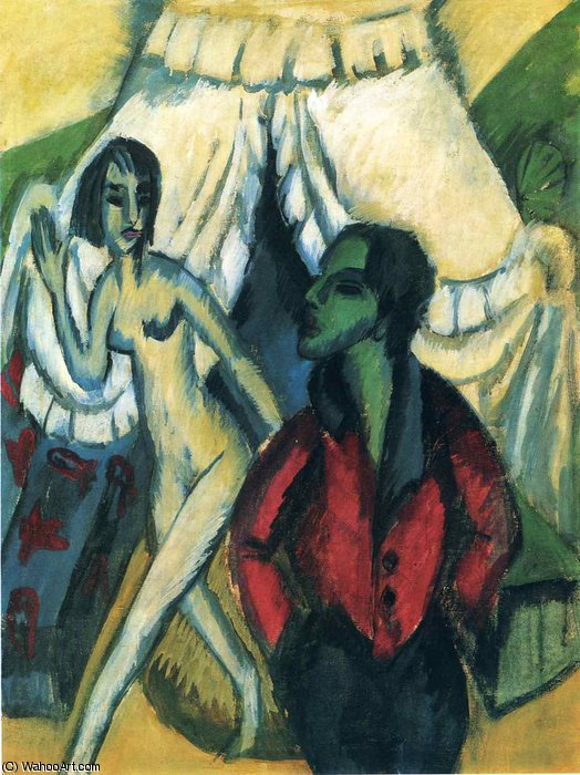 untitled (9768) di Ernst Ludwig Kirchner (1880-1938, Germany) | WahooArt.com