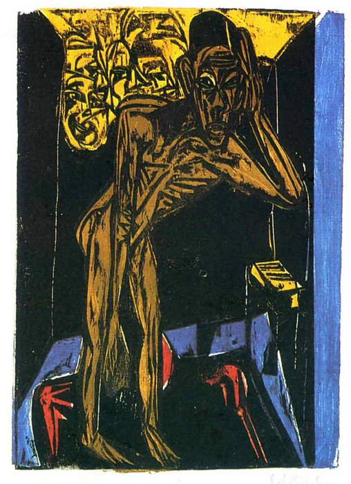 untitled (6659) di Ernst Ludwig Kirchner (1880-1938, Germany)