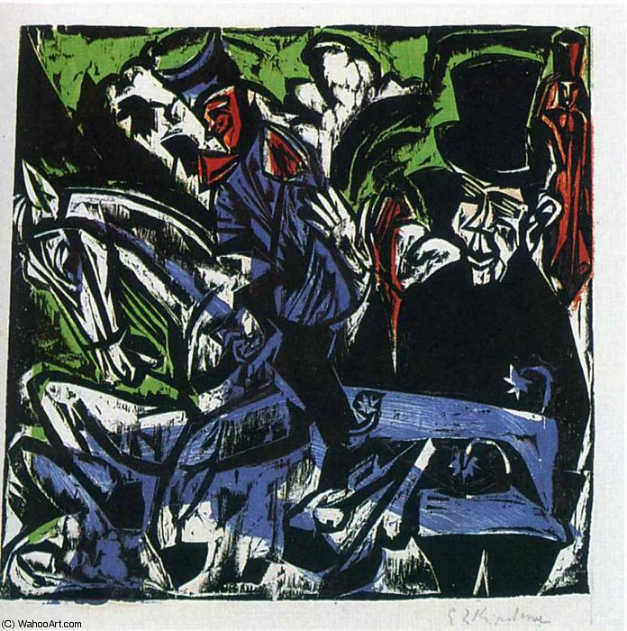 untitled (8159) di Ernst Ludwig Kirchner (1880-1938, Germany)