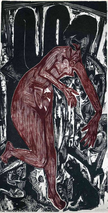untitled (4253) di Ernst Ludwig Kirchner (1880-1938, Germany)