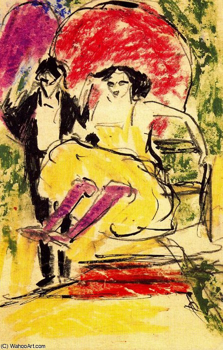 untitled (1235) di Ernst Ludwig Kirchner (1880-1938, Germany)