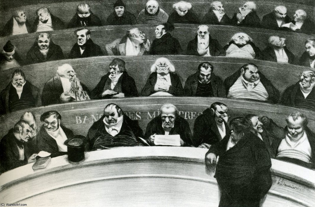 Le Ventre Legislativo, lithographie Il Ventre legislativo, litografie di Honoré Daumier (1808-1879, France)