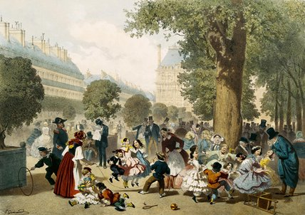 le tuileries di Eugene Charles Francois Guerard (1821-1866, France)