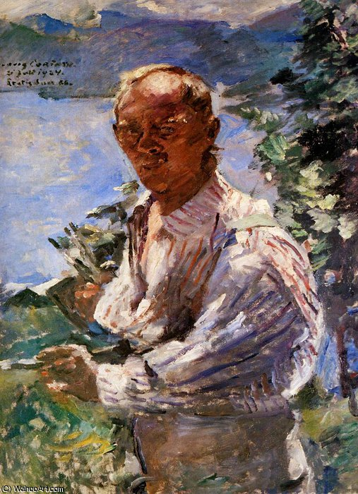autoritratto sole  di Lovis Corinth (Franz Heinrich Louis) (1858-1925, Netherlands)