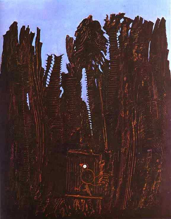 Foresta e Dove, 1927 di Max Ernst (1891-1976, Germany)