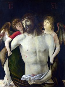 Giovanni Bellini - i morti cristo supportato  a memoria  angeli