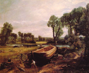John Constable - Boat-Building sul Stour
