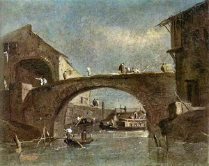 Francesco Lazzaro Guardi - Ponte a Dolo