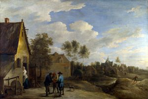 David The Younger Teniers - una vista di Un  villaggio