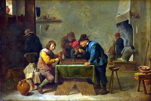 David The Younger Teniers - Giocatori del Backgammon