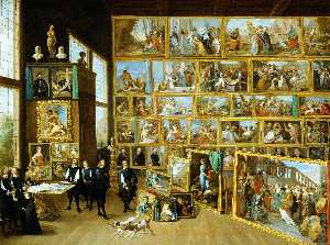 David The Younger Teniers - Arciduca leopoldo guglielmo s studio