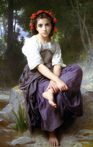 William Adolphe Bouguereau - Au bord du Ruisseau