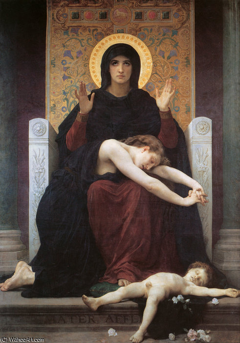 Vierge consolatrice di William Adolphe Bouguereau (1825-1905, France)