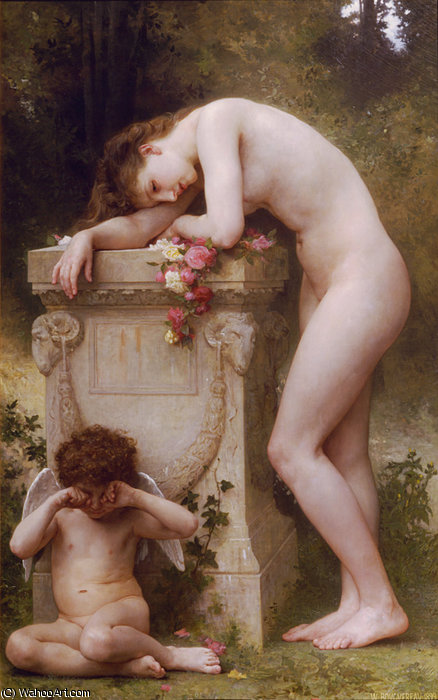 Douleur damour di William Adolphe Bouguereau (1825-1905, France)
