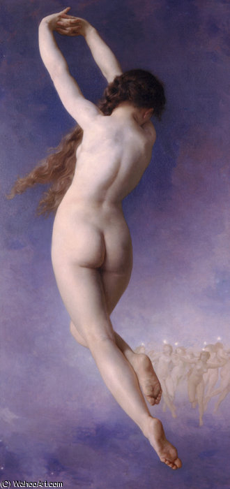 Letoile perdue di William Adolphe Bouguereau (1825-1905, France) | WahooArt.com