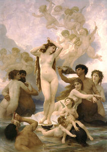 William Adolphe Bouguereau - Naissance de Venere