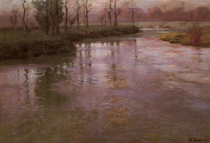 Frits Thaulow - Sul fiume francese