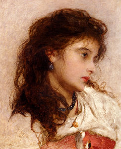 George Elgar Hicks - Edgar un zingaro ragazza