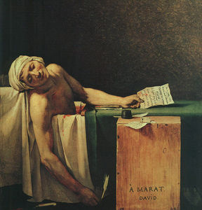 Jacques Louis David - la morte di Marat
