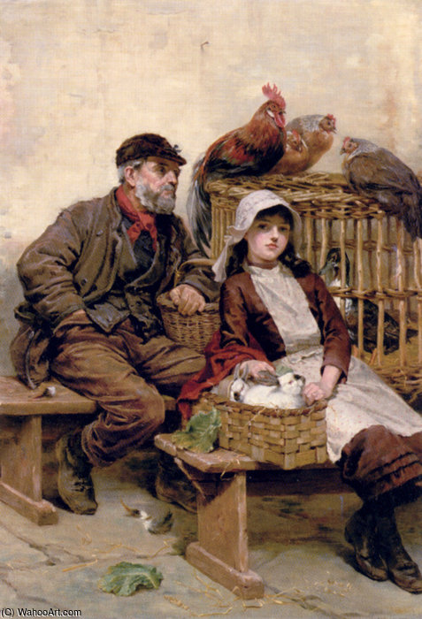 l'animale mercato  di Ralph Hedley (1848-1913, United Kingdom) | WahooArt.com