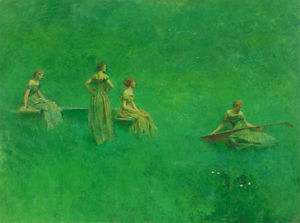 Thomas Wilmer Dewing - thelute