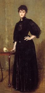 William Merritt Chase - Lady in Black aka Mrs. Leslie Cotone