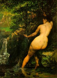 Gustave Courbet - Il fonte , Musee d-Orsay , A parigi
