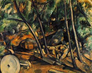 Paul Cezanne - Woods con millstone , 1898-1900 , coll . sig.ra carroll s . t