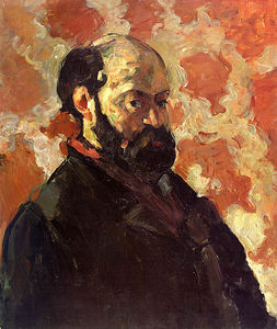 Paul Cezanne - Self-portrait su un rose background , galerie