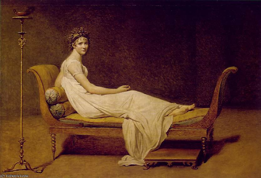 Madame Récamier, Louvre, 1800 di Jacques Louis David (1748-1800, France)