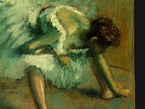 Edgar Degas - prima del balletto , detalj 5 , ng washington