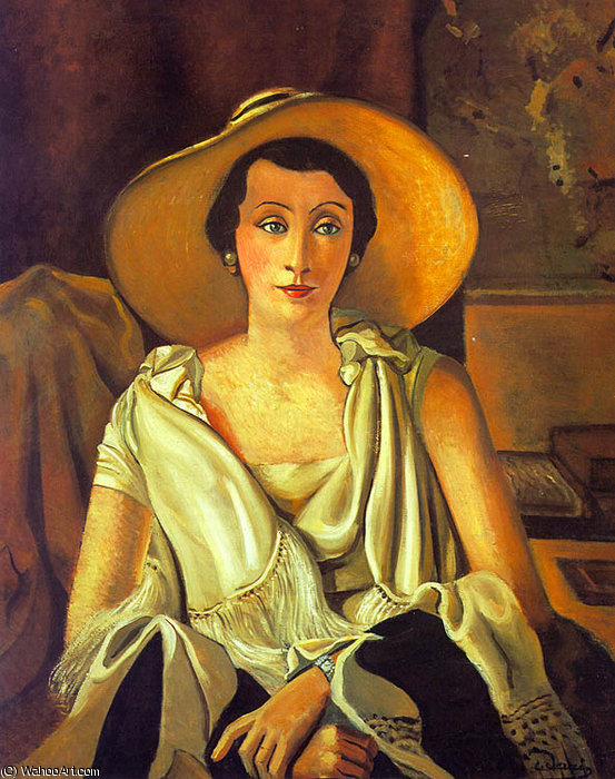 ritratto di dama Guillaume , Musée de l'Orange, 1928 di André Derain (1880-1954, France)