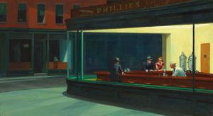 Edward Hopper - Nighthawks , larte Istituto di chicago , Ragazza