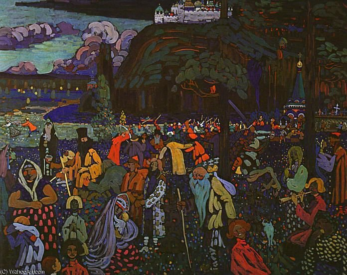 vita colorful tempera su tela lenbachhau 1907 di