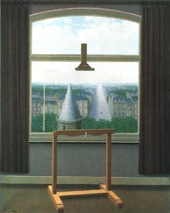 Rene Magritte - Euclidea walks , 1955 , minneapolis inst . delle arti
