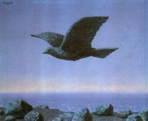 Rene Magritte - il idolo 1965   particulare