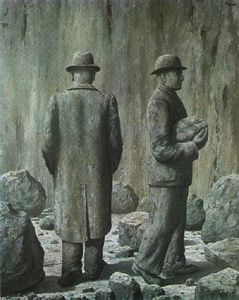 Rene Magritte - il canzone del viola 1951   particulare
