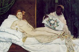 Edouard Manet - Olimpia , Musee d'Orsay , A parigi