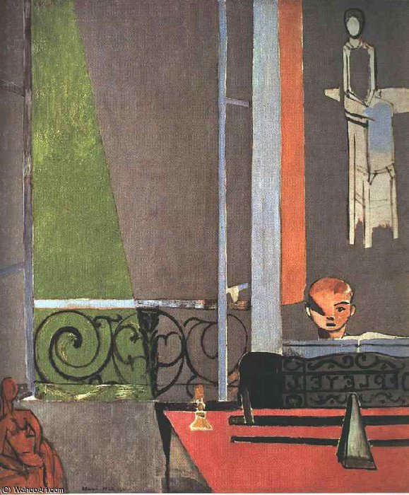 "henri matisse ""the window"" france 1916 The music lesson is a 1917 oil painting by henri matisse painted during his time  in laurette  le rideau jaune (the yellow curtain) (1915) the window (1916)  the painter and his model (1917) the music lesson (1917) piano lesson."